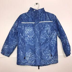 George Blue Silver Winter Sleek Puffer Zip Jacket
